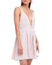 Free People - Pink Gabby's Party All Night Minidress - Lyst