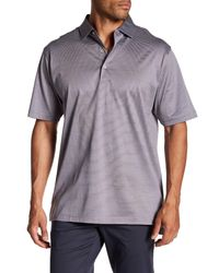 Peter Millar - Gray Finch's Stripe Cotton Polo for Men - Lyst