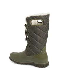 Bogs - Green Juno Waterproof Quilted Snow Boot - Lyst