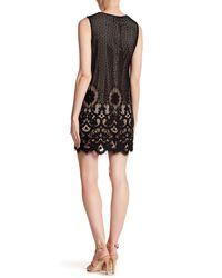 Cece by Cynthia Steffe - Black Rosie Tie Neck Lace Dress - Lyst