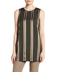 Theory | Black Sleeveless Stripe Tunic | Lyst