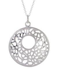 Argento Vivo | Metallic Sterling Silver Filigree Open Dome Pendant Necklace | Lyst