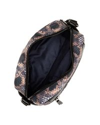 French Connection - Black June Faux Leather & Nylon Crossbody - Lyst