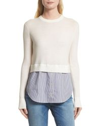 Veronica Beard - White Cassie Combo Sweater - Lyst