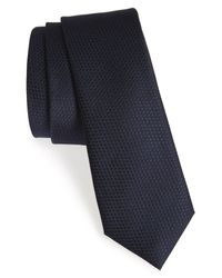 Calibrate - Blue Seattle Textured Silk Tie for Men - Lyst