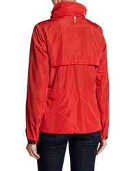 Mackage - Red Stand-up Collar Rain Coat - Lyst