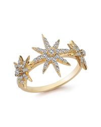 Elizabeth and James - Metallic White Topaz Compass Rose Ring - Lyst