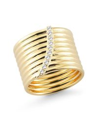 Elizabeth and James - Metallic Vago Ring - Lyst