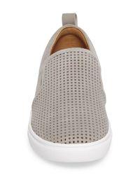 Caslon - Gray Eden Perforated Slip-on Sneaker - Lyst