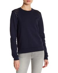 Black Orchid - Blue Embellished Sweatshirt - Lyst