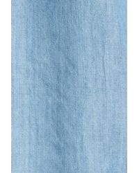 Hinge Blue Off The Shoulder Chambray Cover-up