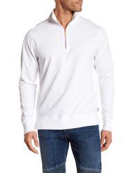Good Man Brand - White Slim Pro Quarter Zip Pullover for Men - Lyst