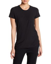 James Perse - Black Short Sleeve Crew Tee - Lyst