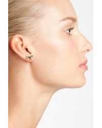 Marc By Marc Jacobs - Metallic Rope Bow Stud Earrings - Lyst