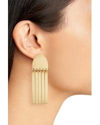 David Aubrey - Metallic Fringe Drop Earrings - Lyst
