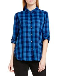 Two By Vince Camuto | Blue Buffalo Check Shirt | Lyst