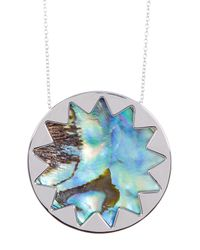 House of Harlow 1960 - Metallic Sunburst Abalone Pendant Necklace - Lyst