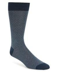 Pantherella - Blue Classic Jacquard Socks for Men - Lyst