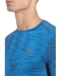 Under Armour - Blue Threadborne Regular Fit T-shirt for Men - Lyst