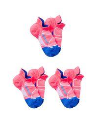 FEETURES SOCKS - Pink Elite Ultra Light No Show Socks (medium) - Set Of 3 - Lyst