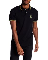 Psycho Bunny - Black Neon Bunny Pique Polo Shirt for Men - Lyst