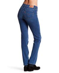 Levi's - Blue 714 Straight Leg Jeans - Lyst