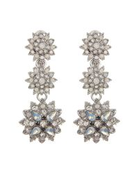 Marchesa - Multicolor Crystal Cluster Drop Earrings - Lyst