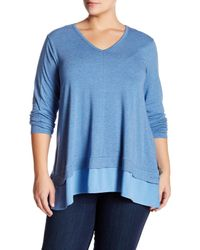Vince Camuto - Blue V-neck Sweater (plus Size) - Lyst