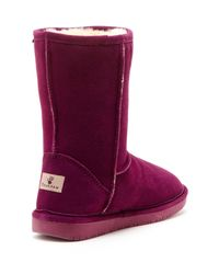 BEARPAW - Purple Emma Genuine Sheepskin Lined Short Boot - Lyst