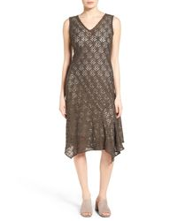 NIC+ZOE - Brown First Bloom Lace Fit & Flare Dress - Lyst