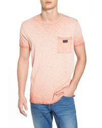 Scotch & Soda - Pink Oil Washed T-shirt for Men - Lyst