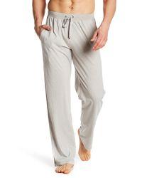 Daniel Buchler - Gray Drawstring Knit Pants for Men - Lyst