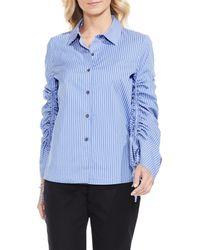 Vince Camuto - Blue Simple Stripe Shirt - Lyst