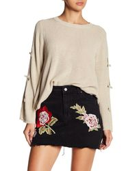 Haute Rogue Natural Bow Bell Sleeve Pullover Sweater