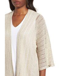Eileen Fisher Natural Organic Linen Blend Kimono Cardigan