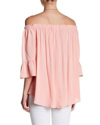 PPLA - Pink Myla Off-the-shoulder Blouse - Lyst