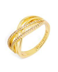 BaubleBar - Metallic 'luda' Pave Crystal Ring - Lyst