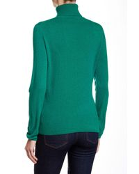 In Cashmere - Green Turtleneck Cashmere Sweater - Lyst
