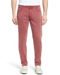 PAIGE - Multicolor Transcend - Federal Slim Straight Leg Jeans (radish) for Men - Lyst