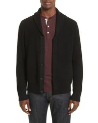 Rag & Bone - Black Shawl Collar Cardigan for Men - Lyst