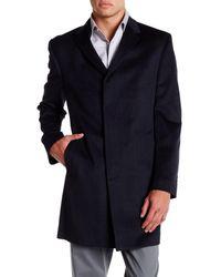 Kenneth Cole - Blue Notch Lapel Longline Coat for Men - Lyst