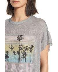 Project Social T - Gray South Beach Boxy Tee - Lyst