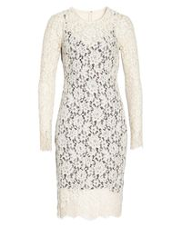 Vince Camuto - White Lace Sheath Dress (regular & Petite) - Lyst