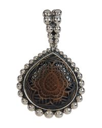 Stephen Dweck - Metallic Sterling Silver Carved Smoky Quartz Pendant - Lyst