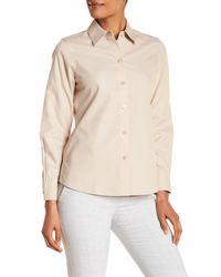 Foxcroft - Natural Long Sleeve Shaped Diane Shirt - Lyst