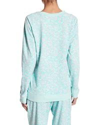 Honeydew Intimates - Blue Burnout Lounge Sweatshirt - Lyst
