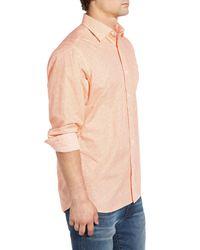 Psycho Bunny - Multicolor Floral Long Sleeve Trim Fit Shirt for Men - Lyst