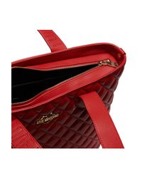 Love Moschino - Red Quilted Leather Shoulder Bag - Lyst