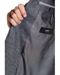 BOSS - Gray Wool Blend Hadley Blazer for Men - Lyst