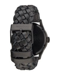 Nixon | Black Men's Sentry Leather Watch for Men | Lyst
